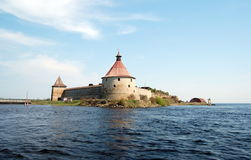 Fortress  Oreshek in Shlisselburg. The fortress is UNESCO World Heritage Sites Royalty Free Stock Photo
