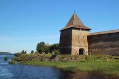 Fortress Oreshek in Shlisselburg Stock Images