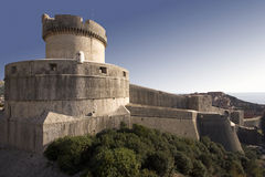 Fortress over the city Dubrovnik Stock Images
