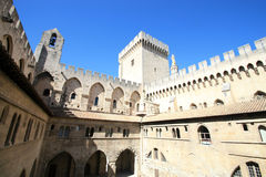 Fortress  of the Palace of the Popes Royalty Free Stock Photography