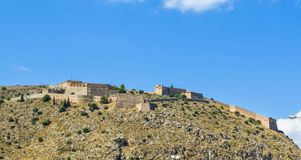 The Palamidi fortress. The fortress of Palamidi in Nafplio, Greece stock images