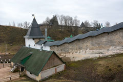 The fortress of the Pechorsky monastery Royalty Free Stock Image