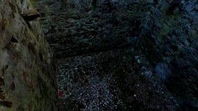 Fortress Poenari. Poenari fortress on Transfagarasan road stock footage