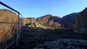 Fortress Poenari. Poenari fortress on Transfagarasan road stock video footage