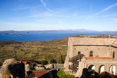 The fortress of Popes on Bolsena lake Royalty Free Stock Images