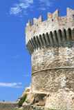 Fortress in populonia, italy. Ruins of the fortress in populonia near piombino in italy Stock Image