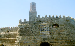 Fortress in the port of Heraklion Stock Photo