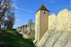 Fortress in Provins. A wall of rempart in provins, a fortress country Royalty Free Stock Image
