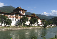 Fortress Punakha dzong in Bhutan Stock Photo