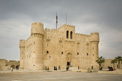 Fortress qaitbey in Alexandria. egypt Royalty Free Stock Photo