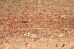 Fortress red brick wall Stock Image