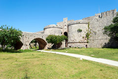 Fortress in Rhodes Royalty Free Stock Image