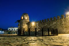 Fortress Ribat In Medina Sousse In The Moonlit Night Royalty Free Stock Image