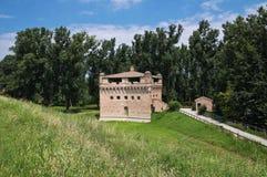 Fortress Rocca Stellata. Bondeno. Emilia-Romagna. Perspective of the Fortress Rocca Stellata. Bondeno. Emilia-Romagna. Italy Royalty Free Stock Photo