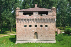 Fortress Rocca Stellata. Bondeno. Emilia-Romagna. Perspective of Fortress Rocca Stellata. Bondeno. Emilia-Romagna. Italy Stock Photo