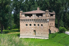 Fortress Rocca Stellata. Bondeno. Emilia-Romagna. Italy. Perspective of the Fortress Rocca Stellata. Bondeno. Emilia-Romagna. Italy Royalty Free Stock Photo