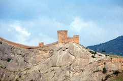 Fortress On Rock Royalty Free Stock Image