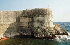 Fortress on the rock over the sea Royalty Free Stock Photos