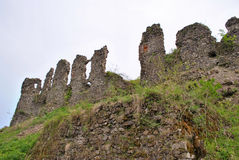 Fortress ruins. Ruins of an old fortress in Huste Royalty Free Stock Photography