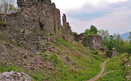 Fortress ruins. Ruins of an old fortress in Huste Royalty Free Stock Photos