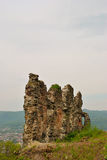 Fortress ruins. Ruins of an old fortress in Huste Royalty Free Stock Image
