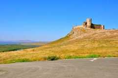 Fortress ruins in Romania Royalty Free Stock Photo