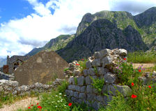 Fortress ruins in summer mountains Royalty Free Stock Photography