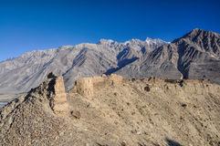 Fortress ruins in Tajikistan Royalty Free Stock Image
