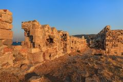 The fortress of Saint John in Kos island in Greece Stock Photography