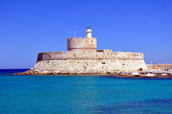 Fortress of Saint Nicholas, Rhodes. Royalty Free Stock Photography
