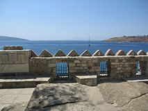 Fortress Saint Peters in Bodrum Turkey Royalty Free Stock Photo