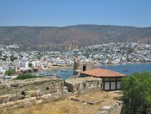 Fortress Saint Peters in Bodrum Turkey Stock Image