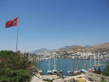 Fortress Saint Peters in Bodrum Turkey Royalty Free Stock Photos