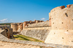 Fortress Salses le Chateau in the south of France Royalty Free Stock Photography