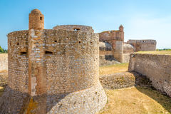 Fortress Salses le Chateau in the south of France Royalty Free Stock Images