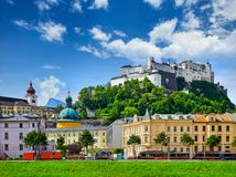 Fortress Salzburg in Austria medieval castle Royalty Free Stock Photos