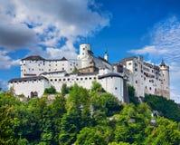 Fortress Salzburg in Austria medieval castle Stock Photos
