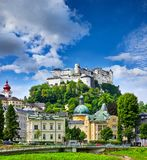 Fortress Salzburg in Austria medieval castle Stock Photography