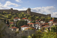 Fortress of Samuil in Ohrid. Macedonia Stock Image