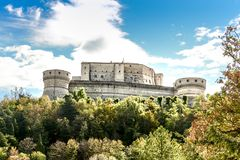 Fortress of San Leo Castle of Cagliostro. In Emilia Romagna, close to Rimini and San Marino Royalty Free Stock Photography