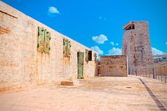 Fortress Sant`elmo in Malta, a fortification.  Stock Photography