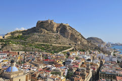 Fortress of Santa Barbara, Alicante, Spain Stock Photo