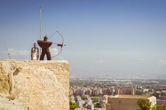 Fortress of Santa Barbara, Alicante, Spain. ALICANTE, SPAIN - SEPTEMBER 9, 2014: the fortress of Santa Barbara Stock Photos