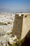 Fortress of Santa Barbara, Alicante, Spain. ALICANTE, SPAIN - SEPTEMBER 9, 2014: the fortress of Santa Barbara Royalty Free Stock Photos
