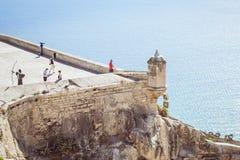 Fortress of Santa Barbara, Alicante, Spain. ALICANTE, SPAIN - SEPTEMBER 9, 2014: the fortress of Santa Barbara Stock Photo