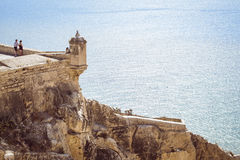 Fortress of Santa Barbara, Alicante, Spain. ALICANTE, SPAIN - SEPTEMBER 9, 2014: the fortress of Santa Barbara Stock Photos