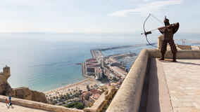 Fortress of Santa Barbara, Spain Royalty Free Stock Photos