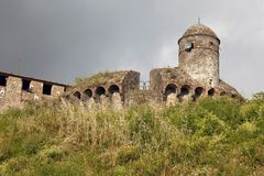 Fortress of Sarzanello Royalty Free Stock Image