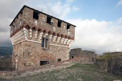 Fortress of Sarzanello Royalty Free Stock Photography