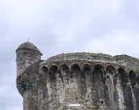 fortress of sarzanello Stock Photos